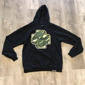 Pink Dolphin Pullover Hoodie Camo Size Large